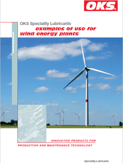 OKS Speciality Lubricants examples of use for wind energy plants