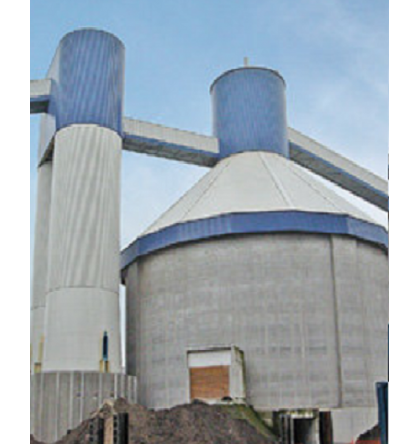 Clinker storage and Discharge