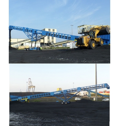 Mobile link conveyors